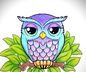 owl, colors, and tattoo image