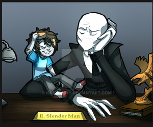 slenderman, ticci toby, and creepypasta image