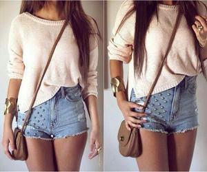 beautiful, handbag, and shorts image