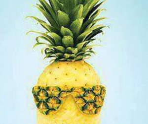 pineapple, sunglasses, and fruit image