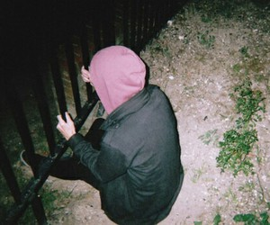 boy, grunge, and night image