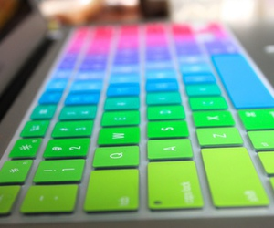 keyboard, colors, and rainbow image