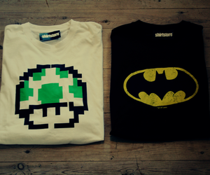 batman, mario, and shirt image