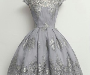 dress, grey, and vintage image