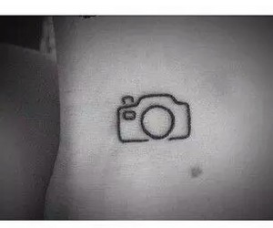 cute, camera, and tattoo image