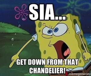funny, chandelier, and ️sia image