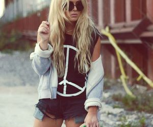 girl, fashion, and peace image