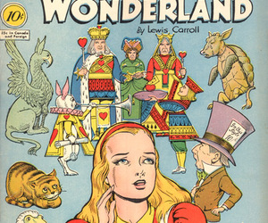 alice in wonderland, comic, and classics image