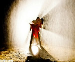 kiss, rain, and love image