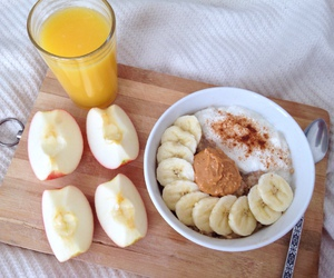 apple, banana, and breakfast image