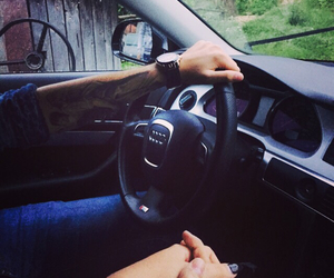 audi, car, and love image