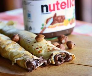 nutella, pancakes, and chocolate image
