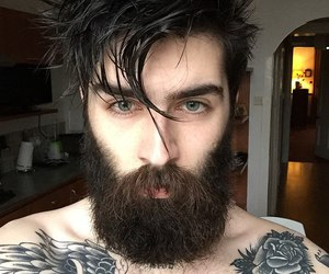 boy, tattoo, and beard image