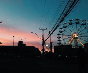 indie, ferris wheel, and sky image