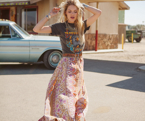 bohemian, skirt, and style image