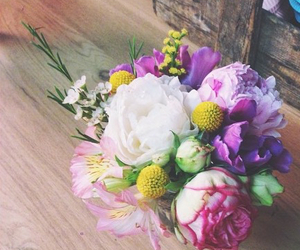 bouquet, pastel, and pink image