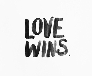 black and white, g, and love wins image