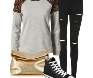 animal print, black, and fashion image