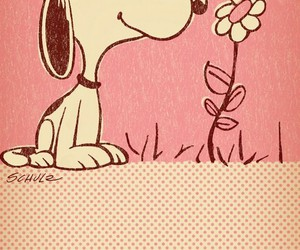 snoopy and pink image