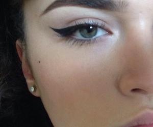 eyeliner, girl, and beauty image