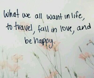 travel, love, and happy image