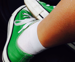 green, converse, and shoes image