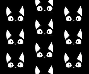 cat, wallpaper, and black image