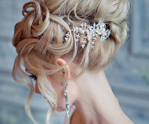 fashion, hair style, and pearl image