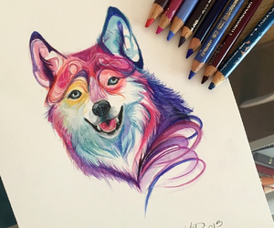 art, colorful, and colors image
