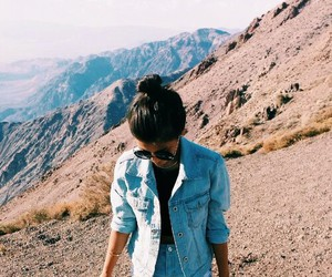girl, mountains, and summer image
