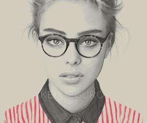 girl, glasses, and model image
