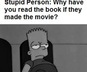 bart simpson, books, and funny image