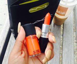lipstick, mac, and orange image