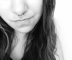 girl, septum, and piercing image