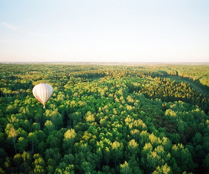 balloon, landscape, and sky image