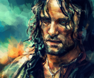 lord of the rings, aragorn, and art image
