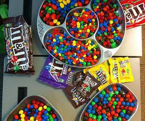 m&m, chocolate, and food image
