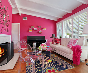 pink, room, and luxury image