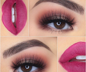 lips, eyes, and fashion image