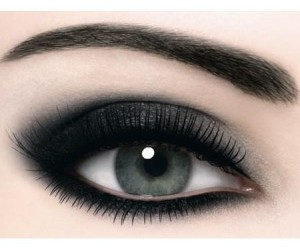eye, makeup, and black image