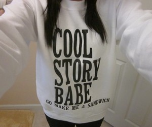 girl, cool story, and quote image