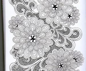 black & white, botanical, and drawing image