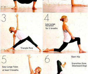 yoga, fitness, and morning image