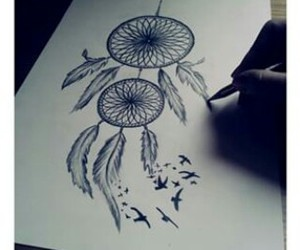 drawing, art, and dreamcatcher image