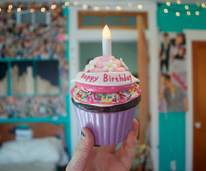 cupcake, birthday, and tumblr image