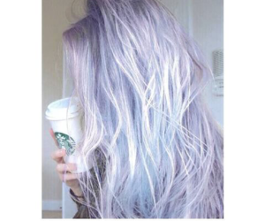 starbucks, hair, and purple image