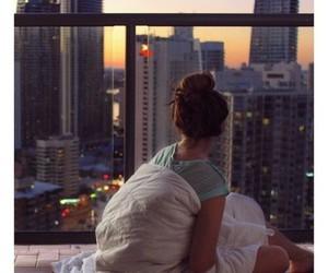 city, morning, and wake up image