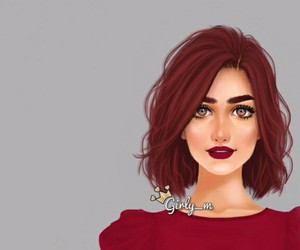 red, girl, and بُنَاتّ image