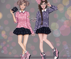 girly_m, friends, and art image
