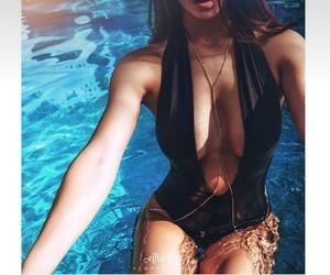 beachwear, girl, and pool image